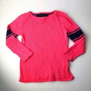TOMMY HILFIGER Girls Ribbed Cotton Top Size 4-5
